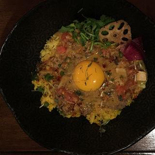 レッドカレー牛丼(Trippin Spice)