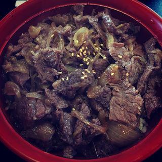 カルビ丼定食(もみじ亭 (モミジテイ))