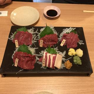 本日の特選五種盛り(桜肉専門店 さくらさく )