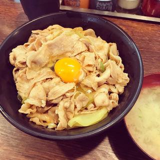 生姜丼(肉増し)(伝説のすた丼屋 お茶の水店 )