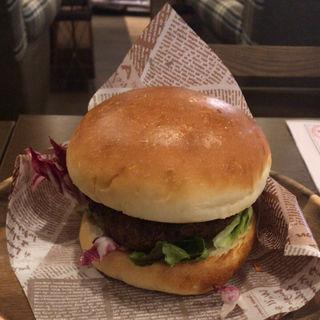 NICKバーガー モーニングセット(ブレンドコーヒー)(肉が旨いカフェ NICK STOCK本町通り店)