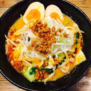 鶏白湯ラーメン 辛味噌(宮崎県日南市 塚田農場 浜松町南口店 )