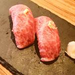 和牛大トロの握り(一貫)(恵比寿焼肉 kintan (エビスヤキニクキンタン))
