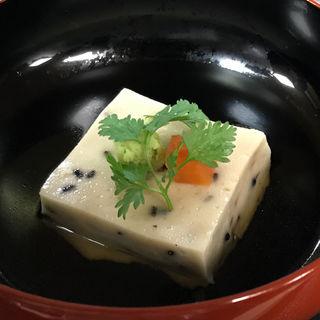 黒胡麻豆腐 甘味出汁(阪口楼 )