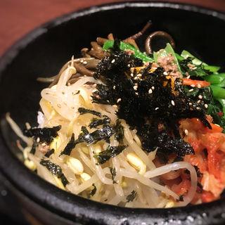 石焼ビビンバセット(韓国料理 土火土火)