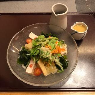 9種具材のサラダうどん(かごの屋 立川砂川九番店 )