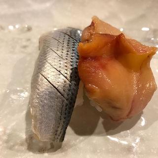 コハダと赤貝(吉野寿司 (よしのずし))