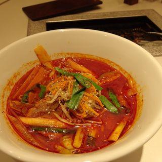 ユッケジャン辛温麺(ぴょんぴょん舎 盛岡駅前店 (ピョンピョンシャ))