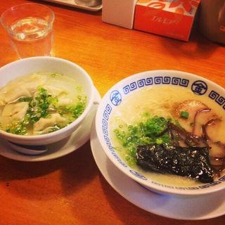 まるきんラーメン+水餃子(まるきんラーメン 金町店 )