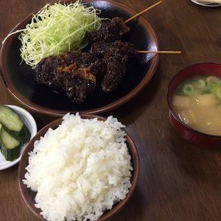 串・レバー・ミノ天定食(さたけ )