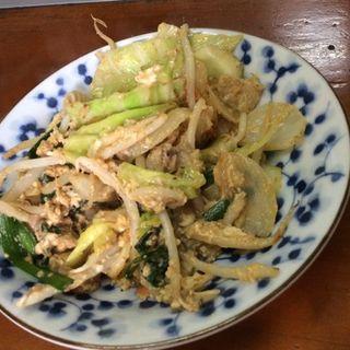 野菜炒め玉子あえ(まる笑 )
