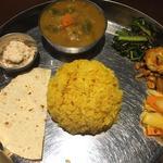 ワンプレート(根菜とオクラのサンバル)