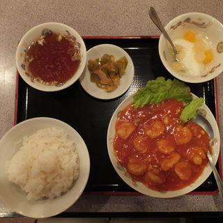 エビチリ定食(満堂紅)