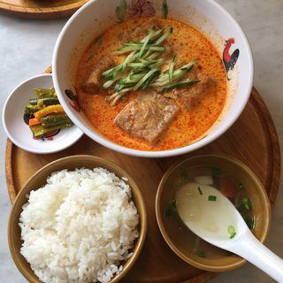 ラクサ豆腐セット(シンガポール海南鶏飯 水道橋店 (ハイナンチーファン))