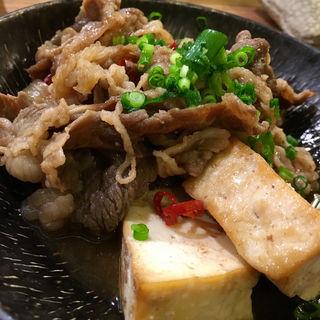 牛バラ肉の肉豆腐(長浜鮮魚卸直営店 博多 魚助)