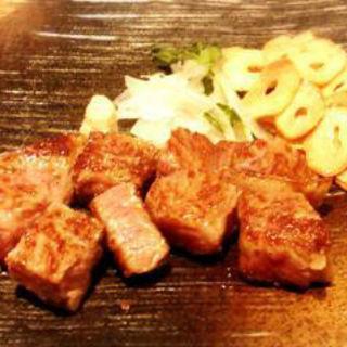 サーロインステーキ+魚介焼コース(鉄板焼 杏 Ishizaki Annex)