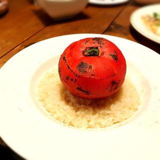 丸ごとトマトのチーズたっぷりクリームリゾット(NYU (ニュー))