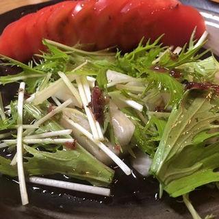 水菜と大根のサラダ(海門 )