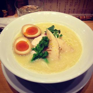 鶏白湯SOBA+煮卵(銀座 篝)