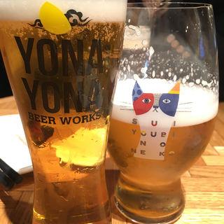 水曜日のネコと僕ビール君ビール(YONA YONA BEER WORKS 赤坂店 (よなよな ビアワークス【旧店名】よなよな ビアキッチン))