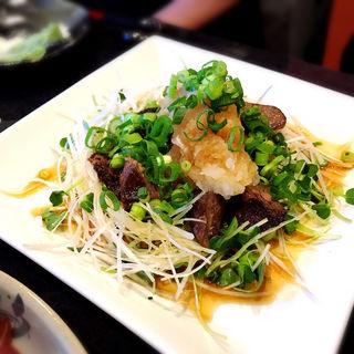 マグロの頬肉のステーキ(おでんや潮 恵比寿本店)