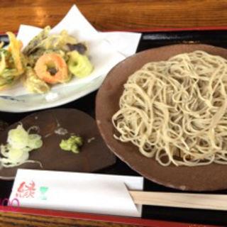 野菜の天ぷらそば(手打ちそば 縁 (てうちそば えに))