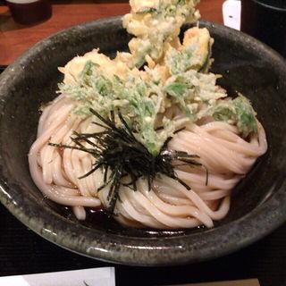 天ぷらぶっかけうどん(饂飩とお酒 からほり きぬ川)