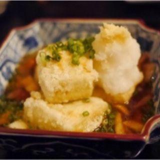 揚げ豆腐(軽井沢 川上庵)