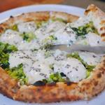 野沢菜のピザ