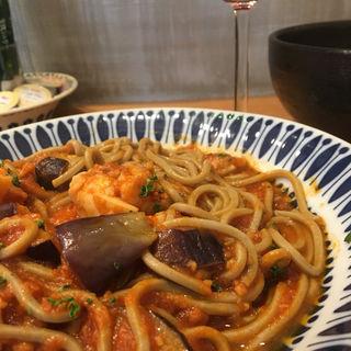 鶏モモ肉と茄子 ハバネロのトマトソース アラビアータ(グルテンフリーバル ハパ!)