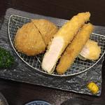 メンチカツ・ささみカツ膳(イマカツ 銀座店)
