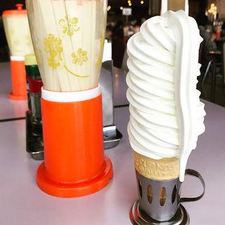 ソフトクリーム(マルカンデパート大食堂)