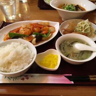 エビチリ定食(中華美食店 中光園 )