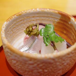 お造り(白いか、細魚、鮃)(桔梗屋 (ききょうや))