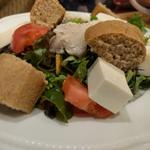 豆腐と鶏肉のオープンサラザ