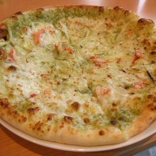 ズワイガニのジェノベーゼピザ(ピザキッチン クオクオ (Pizza Kitchen cuo cuo))