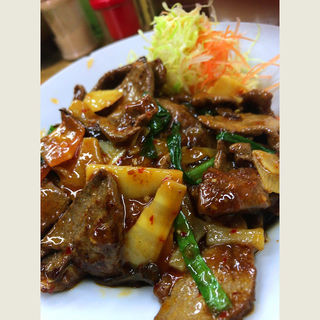 レバー大盛定食(横浜亭 )