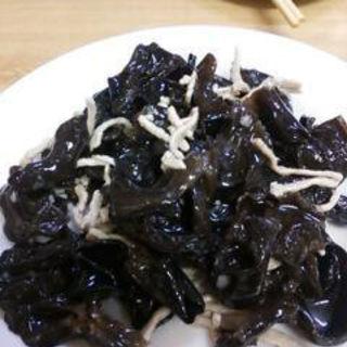 きくらげと豚肉のサラダ(中国 東北飯店)