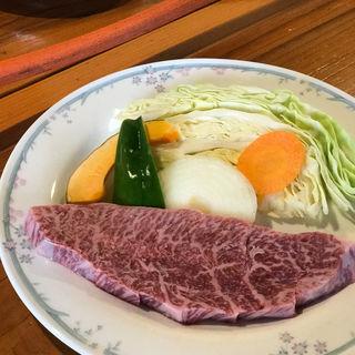 田子牛 ミスジステーキ定食(池田ファーム (イケダファーム))