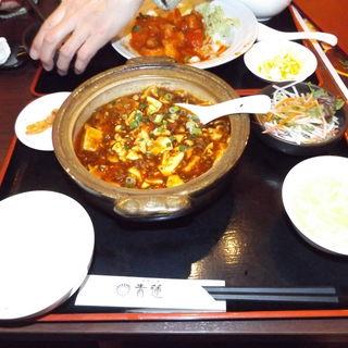 四川山椒と唐辛子の本格麻婆豆腐+ご飯セット(健康中華庵 青蓮 川崎西口店)