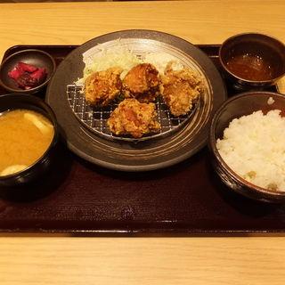 おろしポン酢から揚げ定食(中盛り)(からあげ とり多津 鹿島田店)
