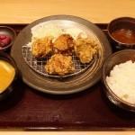 おろしポン酢から揚げ定食(中盛り)