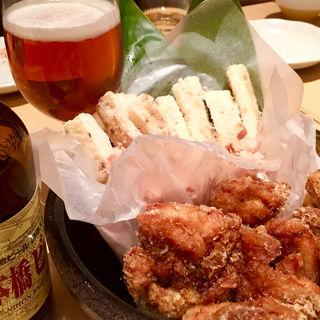 大山鶏の唐揚げ 長芋のフライ(だし場 はなれ)