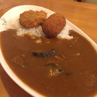 ビーフカレー 茄子とクリームコロッケと一口トンカツ(イートイット 羽倉崎店 (Eat it))