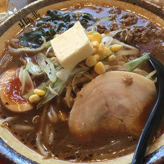 黒味噌バターラーメン(北海道ラーメン 北の恵み 月島支店)