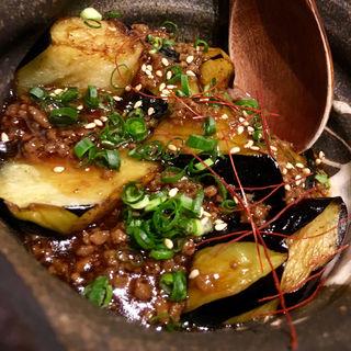 揚げ茄子の肉味噌かけ(博多 酒佳蔵)