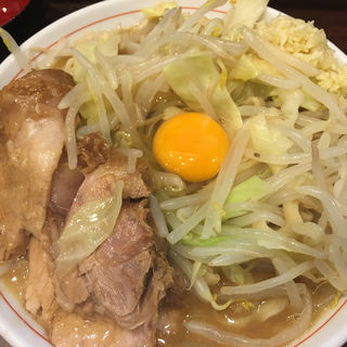 ミニラーメン、生卵(零一弐三)