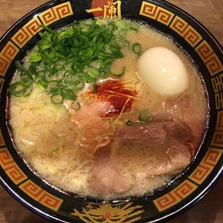 ラーメン 半熟玉子+青ねぎ トッピング(一蘭 豊橋店)