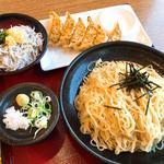 ざるラーメン餃子セット(8番らーめん 丸岡店 )