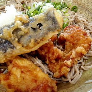 鶏天ぶっかけそばと炊き込みご飯(丹波大食堂 )